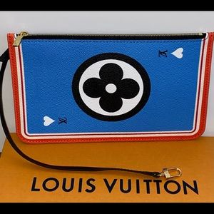 Louis Vuitton Neverfull Game on pouch/wristlet
